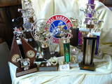 National Horse Association Barrell Trophies (15); 2 Bowling Trophies.