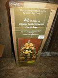 Poinsettia , Metal Plated, 42