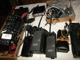 4 Flats= Radio Shack Portable Radio's, Realistic Cb Base; 3 Cb's; Misc. Wir