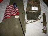 Military=Bayonet; Ammo Box; Duffle Bag; Canteen.