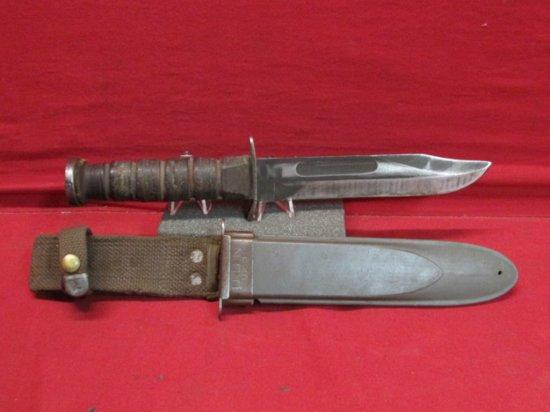 """7"""" Vintage WW2 II Nord-6581 USN Knife W/ Sheath"""