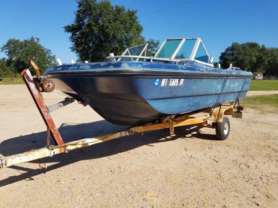 1971- 16ft Sliverline Boat & Trailer