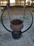 20 Gallon Cast Iron Pot W/ Stand