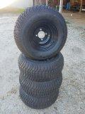 (4) 4 Lug Rims & Tires