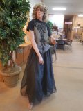 Full Body Female Mannequin W/ Stand & Evening Gown