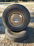 (2) Rims & Tires For 1 Ton Ford Truck