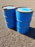 (2) 55gal Metal Barrels