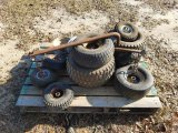 (11) Assorted Rims W/ Tires & Sway Bars