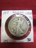1917 Silver Walking Liberty Half Dollar