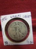 1936 Silver Walking Liberty Half Dollar