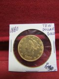 1880 Ten Dollar Gold Coin
