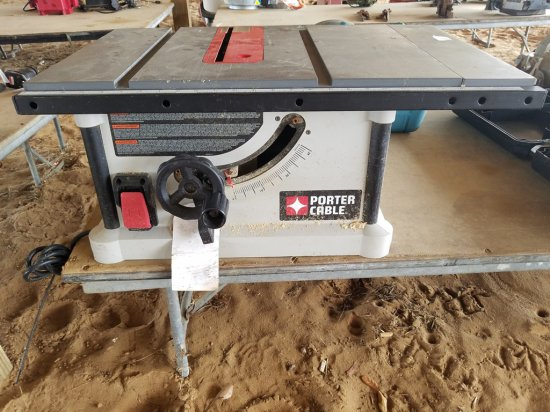 """10"""" Portable Cable Table Saw WORKS"""