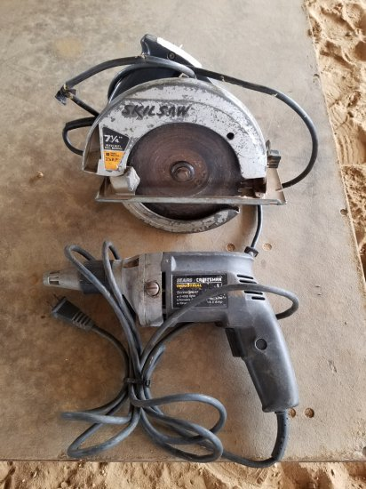 "7¼"" Skillsaw Circular Saw & Sears Craftsman"