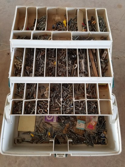 Tackle Box With Assorted Screws