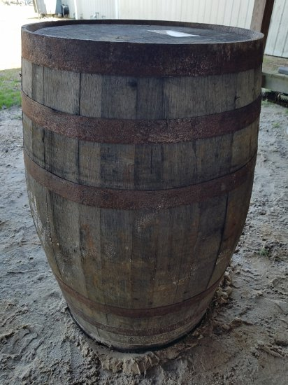55gal Wooden Barrel