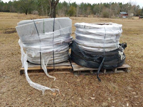 (2) Pallets Of Flat Drainage Pipe W/ Felt