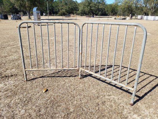 6ft Steel Foldable Barricade