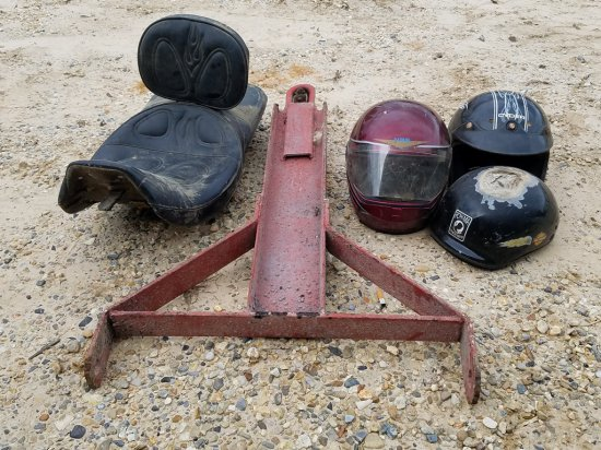 Tow Dolly, Motorcycle Seat &(3) Helments