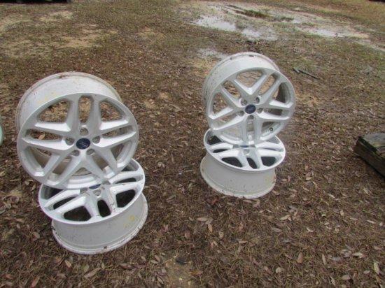 "(4) 17"" Ford Rims W/ 5 Lugs"