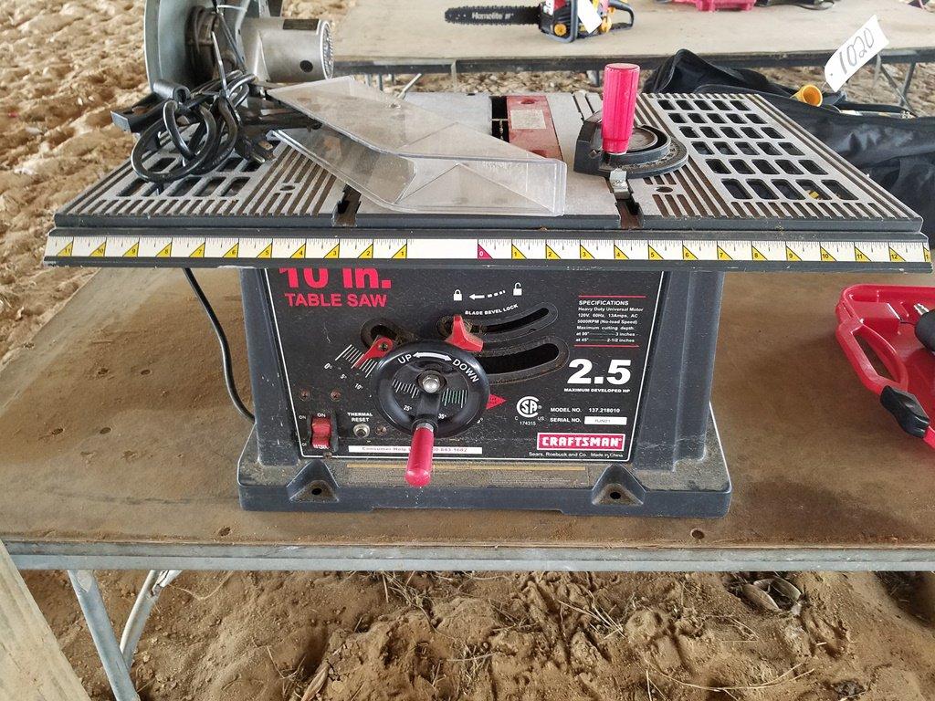 "10"" Craftsman Table Saw WORKS"