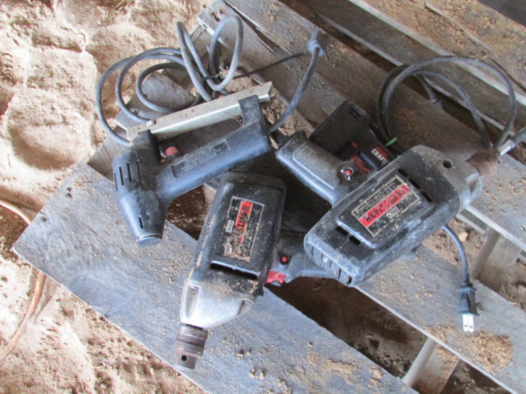(2) Craftsman Drills & (2) Electric Staplers