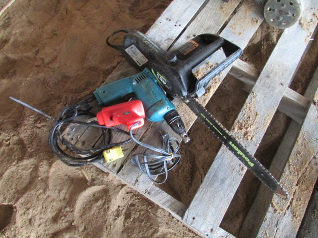 Poulan Electric Hand Saw, Makita Drill & Electric