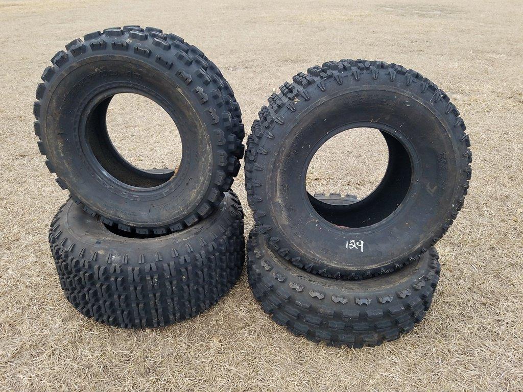(2) AT22 X 7.00-10 Tires & (2) 22 X 10.00-10 Tires