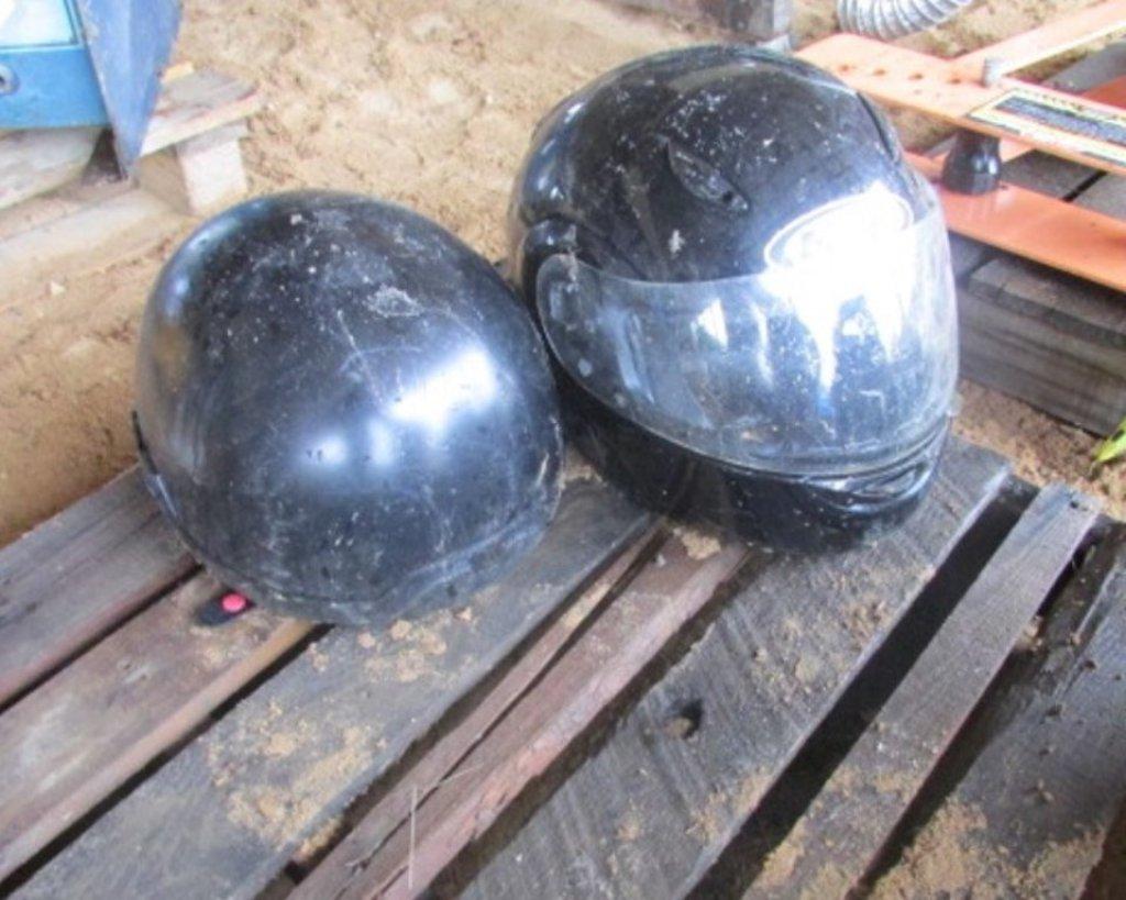 (2) Helmets