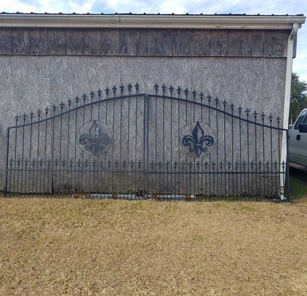 16' Metal Enrty Gate W/ Post, Powder Coated*NEW*