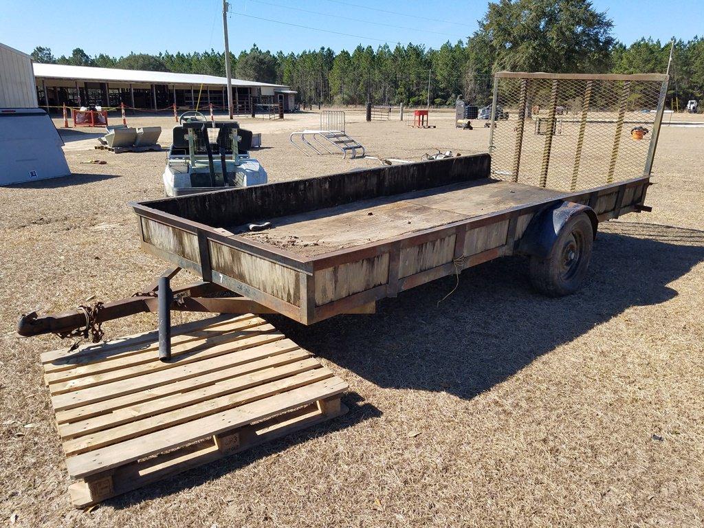 14ft Bumper Pull Trailer W/4ft Ramp