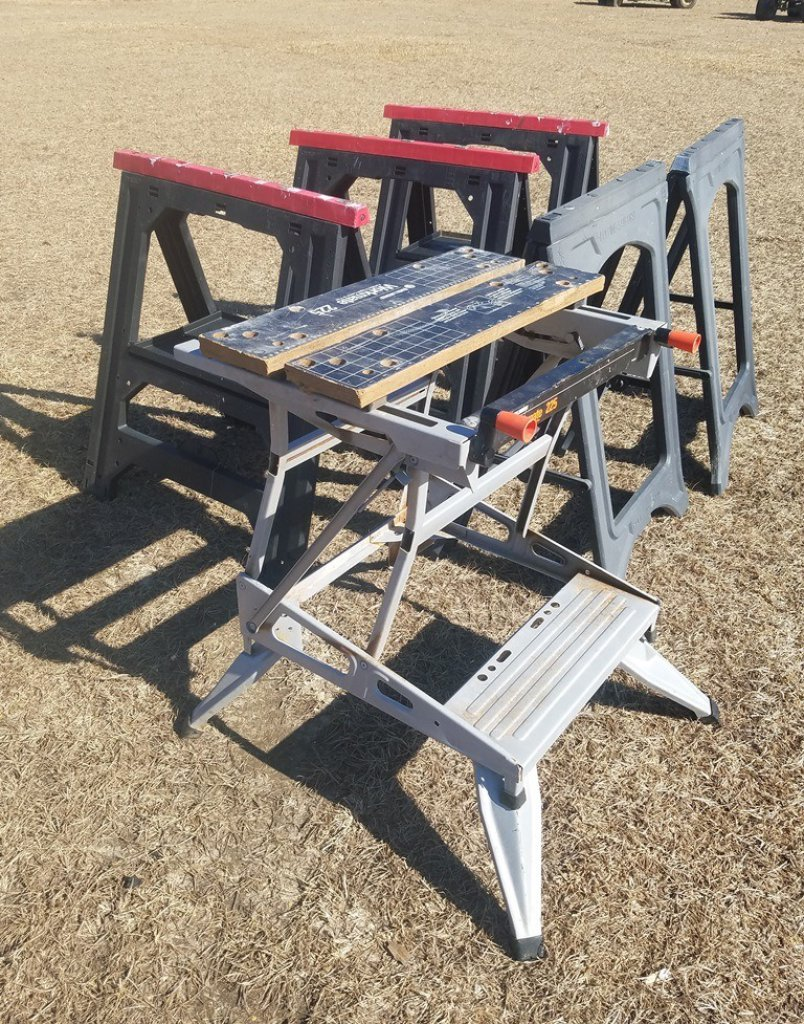 Black & Decker Workmate225 Table &(5) Saw Horses