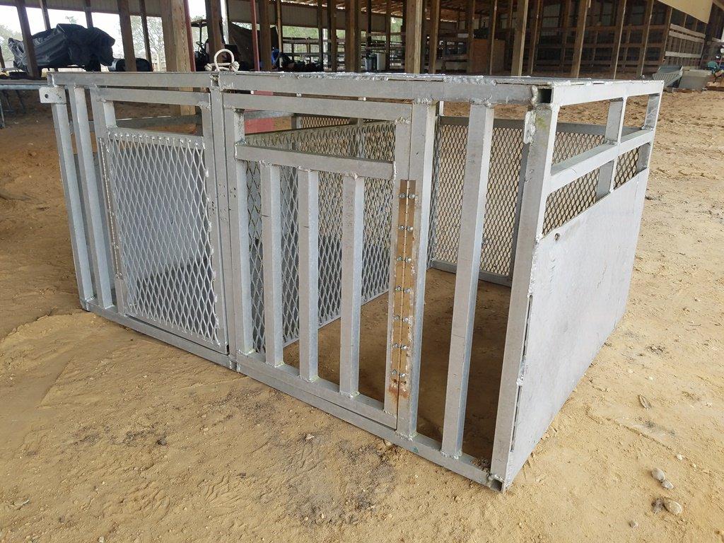 2 Door Compartment Aluminum Dog Box