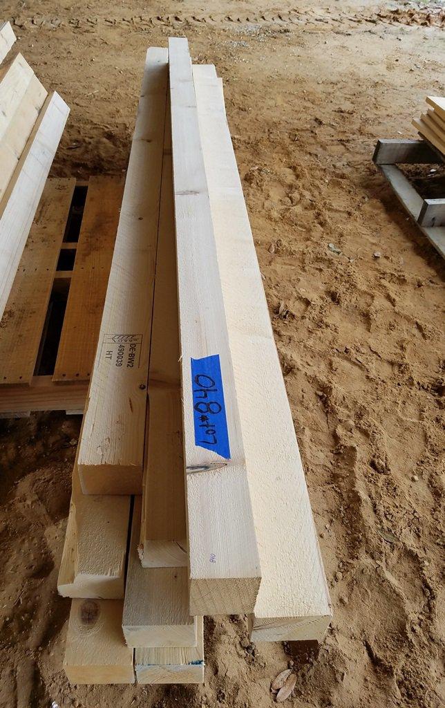 """(10) 4"""" x 4"""" x 7' 10"""" Fir Lumber"""