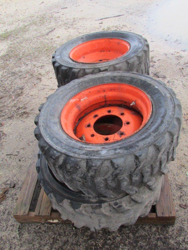 (4) Bob Cat 10-16.5 Tires & Rims