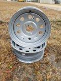 (2) Boat Trailer 15x5 Rims W/ 5 Lug *NEW*