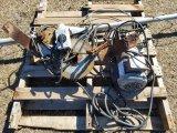 (2)Hoist W/ Gear Boxes & 12ft  Pole