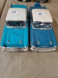 (2) 1957 Chevy Bel Air Hard Top Model Cars