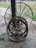 Large Wagon Wheel & (2) Small Wagon Wheels