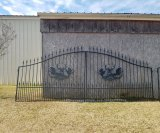 16' Metal Entry Gate W/ Post, Powder Coated *NEW*