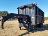 18ft L x 8ft W x 6½ft D Hydraulic Dump Trailer W/