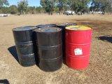 (5) 55gal Metal Barrels