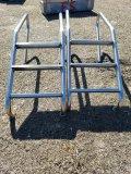 (2) Stainless Steel Pool Ladders