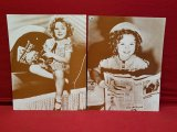 (2) 11 x 14 Old Photos Of Shirley Temple