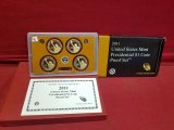 2011 U.S Mint Presidential $1 Coin Proof Set