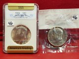 1965 & 1979-D Kennedy Half Dollar Coins