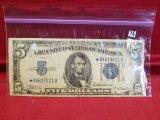 1934-A $5 Silver Certificate Star Note