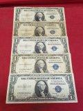 (2)1935-A, 1935-B, & (2) 1935-D $1 Silver