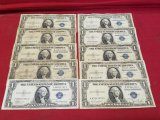 (5)1935-A & (5)1935-D $1 Silver Certificate Notes
