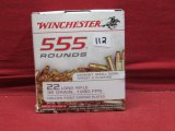 (555) Winchester .22LR Cartridges