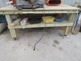 Work Bench With Power Strip
